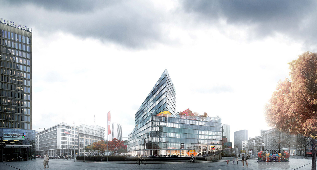 BIGs proposal for Axel Springer HQ in Berlin. Image: BIG