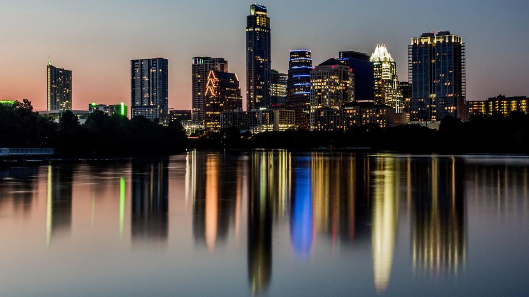 The Austin skyline, via wikimedia.org