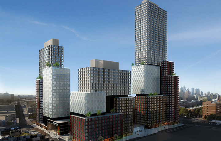 Rendering of the B2 BKLYN development in Brooklyn, NY. Image via SHoP Architects website.