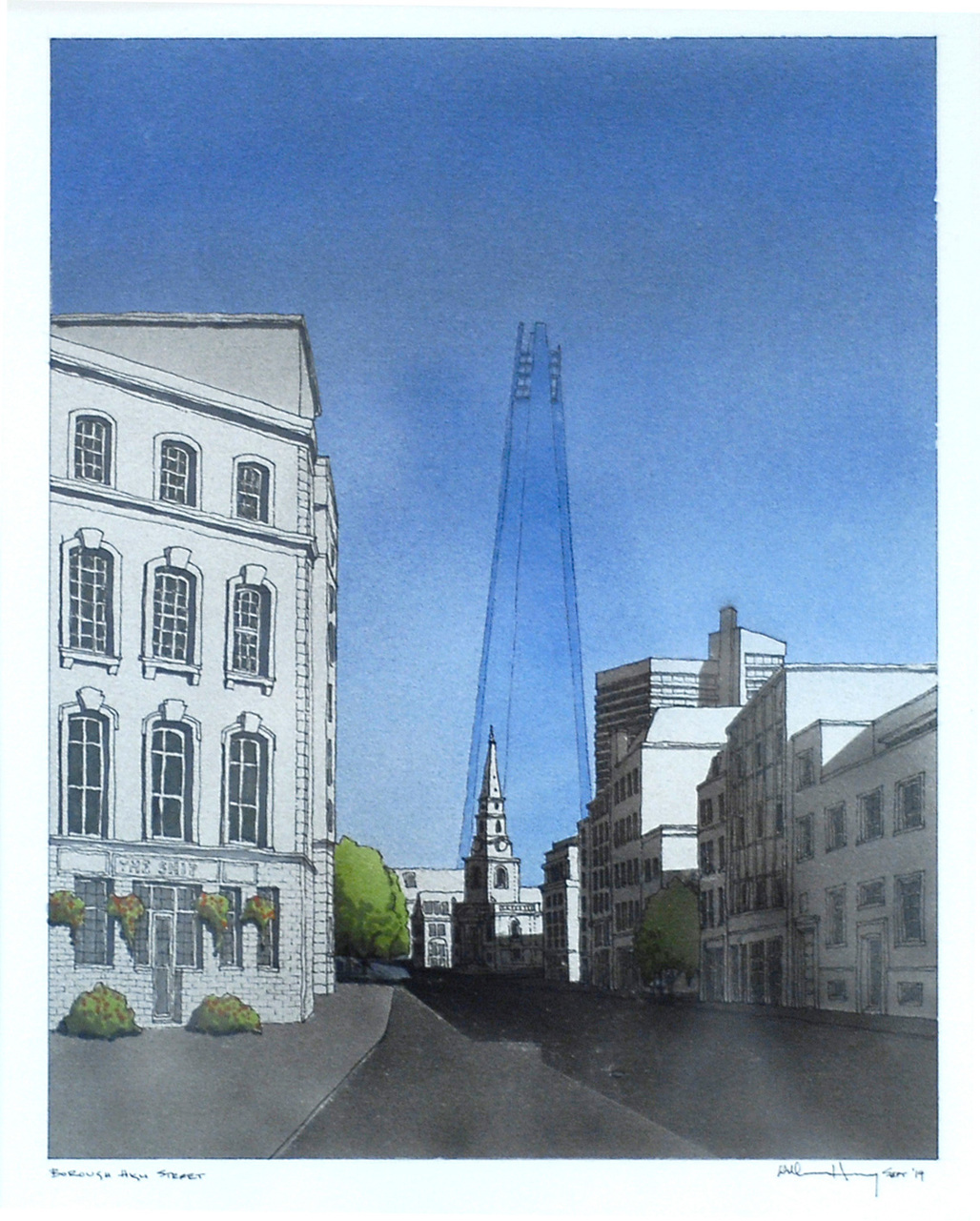 Bill Hanway for 10x10 Drawing the City London 2014. Image courtesy of Article 25.