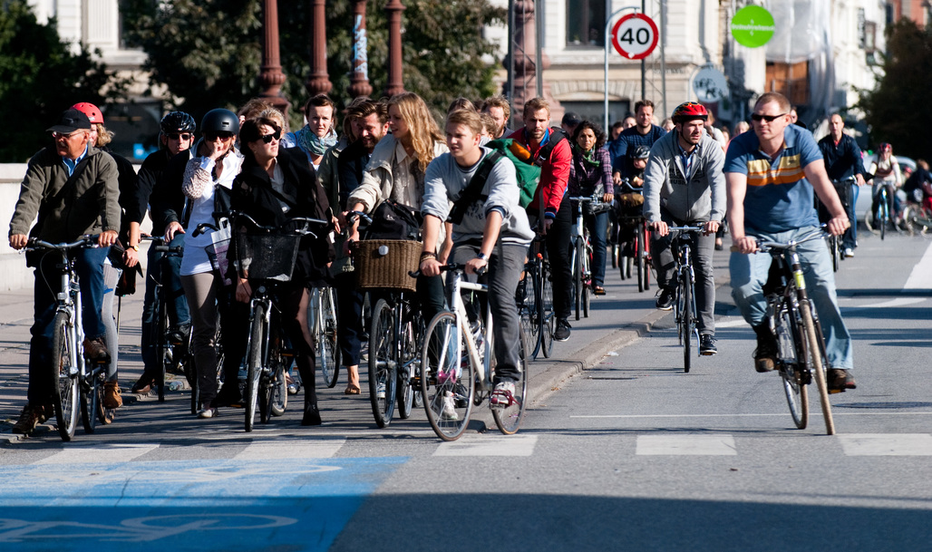 Rush-hour in Copenhagen, the world's #1 bike-friendly city according to an annual ranking. Credit: Wikipedia