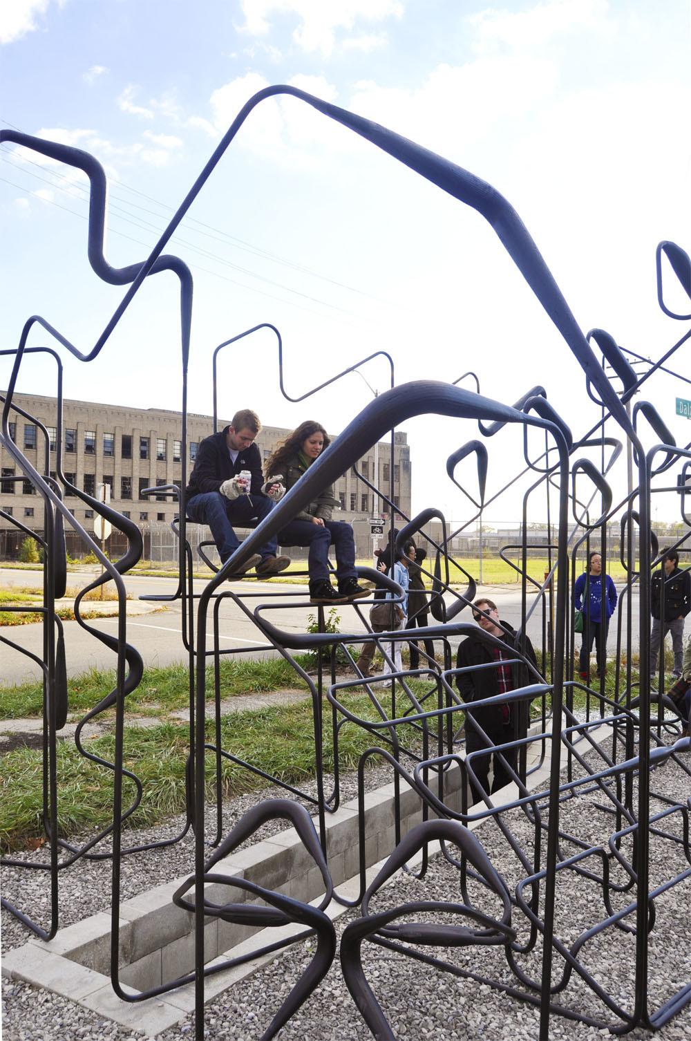 The pavilion occupied