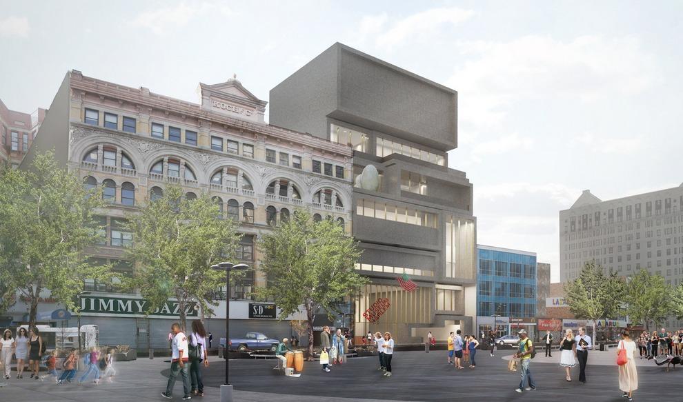 Rendering for David Adjayes new Studio Museum in Harlem, image © 2015 The Studio Museum in Harlem