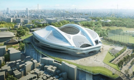 Zaha Hadids rejected design for the New National Stadium.