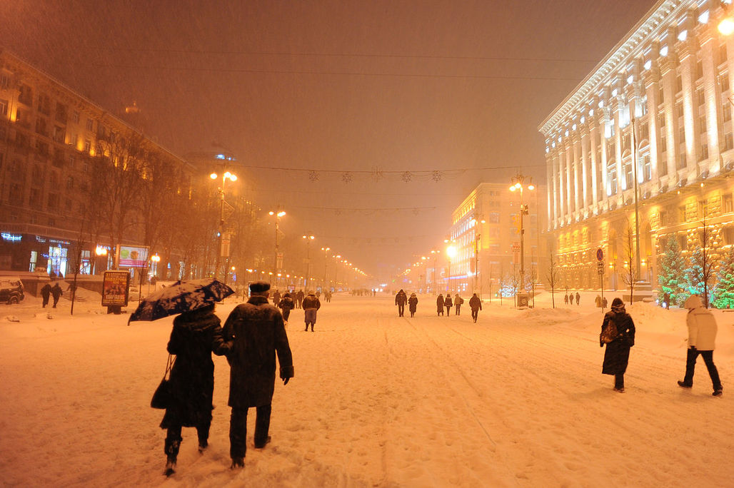 Kievs Stalinist Khreshchatyk boulevard is a popular tourist destination and closed to road traffic on weekends and public holidays. (Photo: Mstyslav Chernov; Image via Wikipedia)