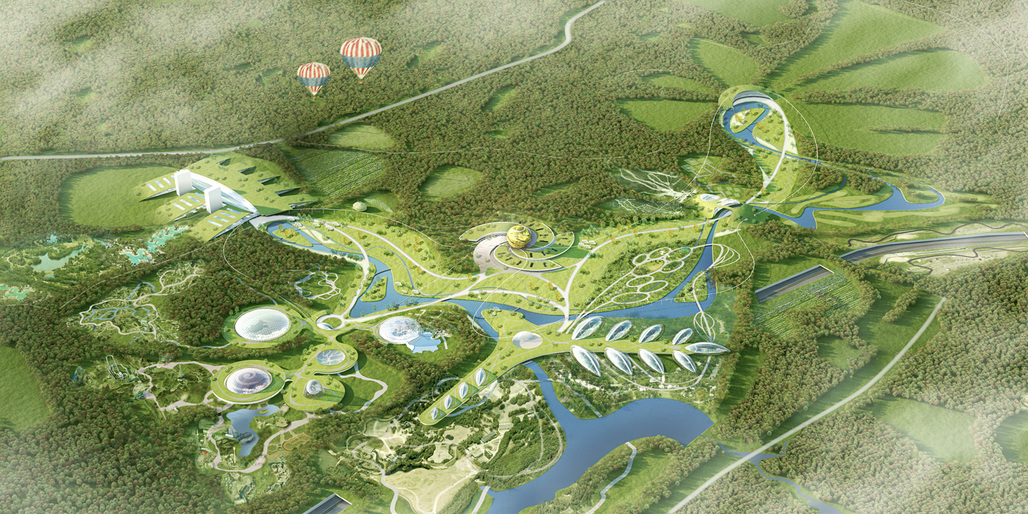 Birds eye view of HOSPERs Park Russia proposal. Image courtesy of HOSPER.