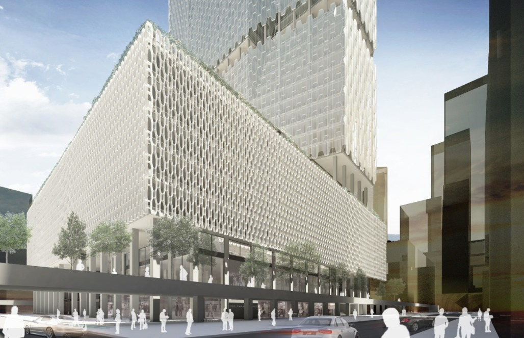 Finalist VOA Architecture, PLLC and Werner Sobek New York Corps proposal for the Met Life Building. Image: VOA Architecture, PLLC and Werner Sobek New York Corp. via PDF.