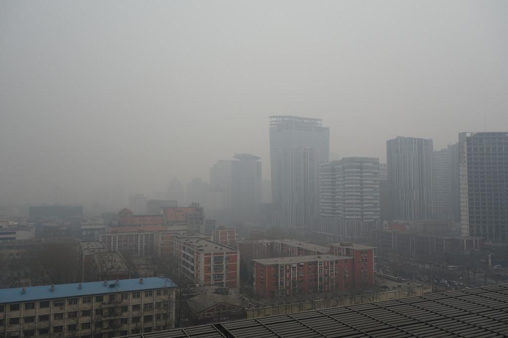 Air pollution in Beijing, via flickr, credit: Kentaro IEMOTO