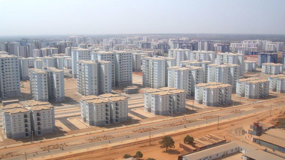 Birds-eye view of the Chinese-built Kilamba New City in Angola. (Photo: Michiel Hulshof & Daan Roggeveen; Image via qz.com)