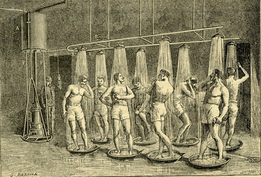 Supposedly Millenials' worst nightmare. First public showers (1890) in Angers (France) (c) City Archives