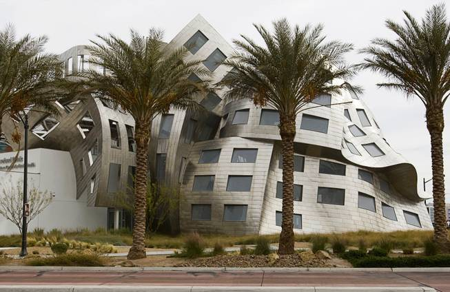 The Cleveland Clinic Lou Ruvo Center for Brain Health is shown in the Symphony Park development in downtown Las Vegas Monday Feb. 27, 2012. The Clinic is operating and the Smith Center for the Performing Arts will open in March but most commercial development in Symphony Park is stalled until about 2015. (Photo: Steve Marcus)