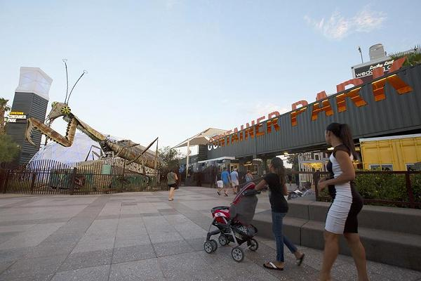 Las Vegas' Container Park. Photo: Mary Stevens/CNBC