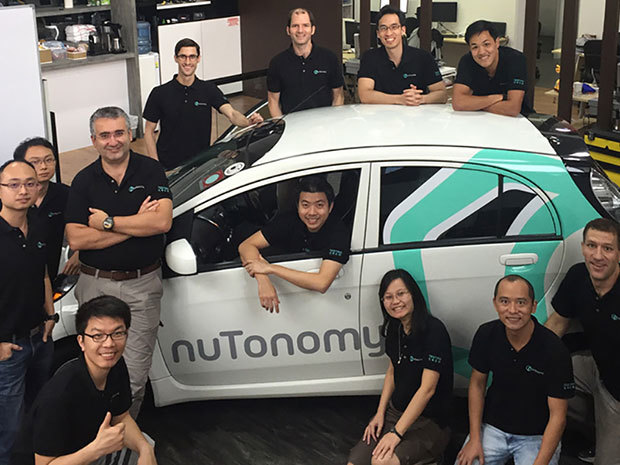 The nuTonomy team, a spinoff from MITs research collaboration with the government of Singapore. Image via spectrum.ieee.org.
