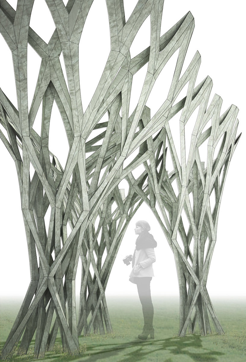 Winner of the APPLIED: Research Through Fabrication Competition: CAST THICKET by Christine Yogiaman and Ken Tracy