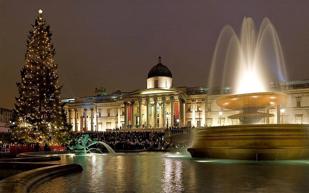 Christmas at Trafalgar Square, London