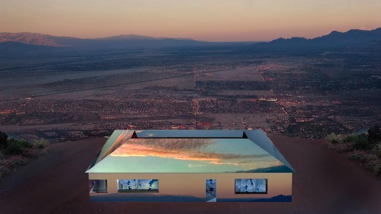 "Doug Aitkens ""Mirage."" Image: Doug Aitken/Desert X"