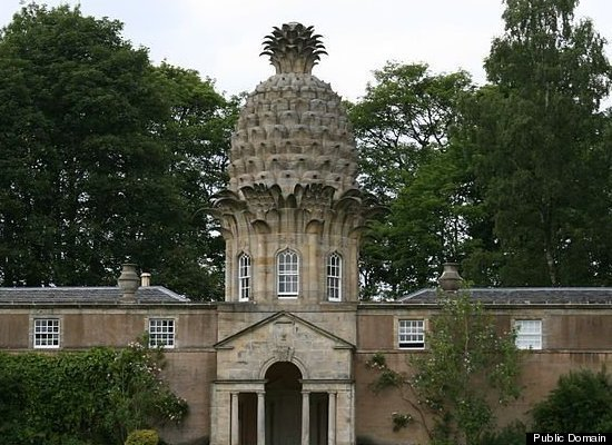The Dunmore Pineapple, built in 1761, is said to rank as the most bizarre building in Scotland. The building, home to the Earls of Dunmore, contained a hothouse, used for, you guessed it, growing pineapples.
