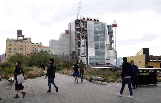 The Whitney Museum of American Art in New York is to be completed in 2015 (Hiroko Masuike/The New York Times)
