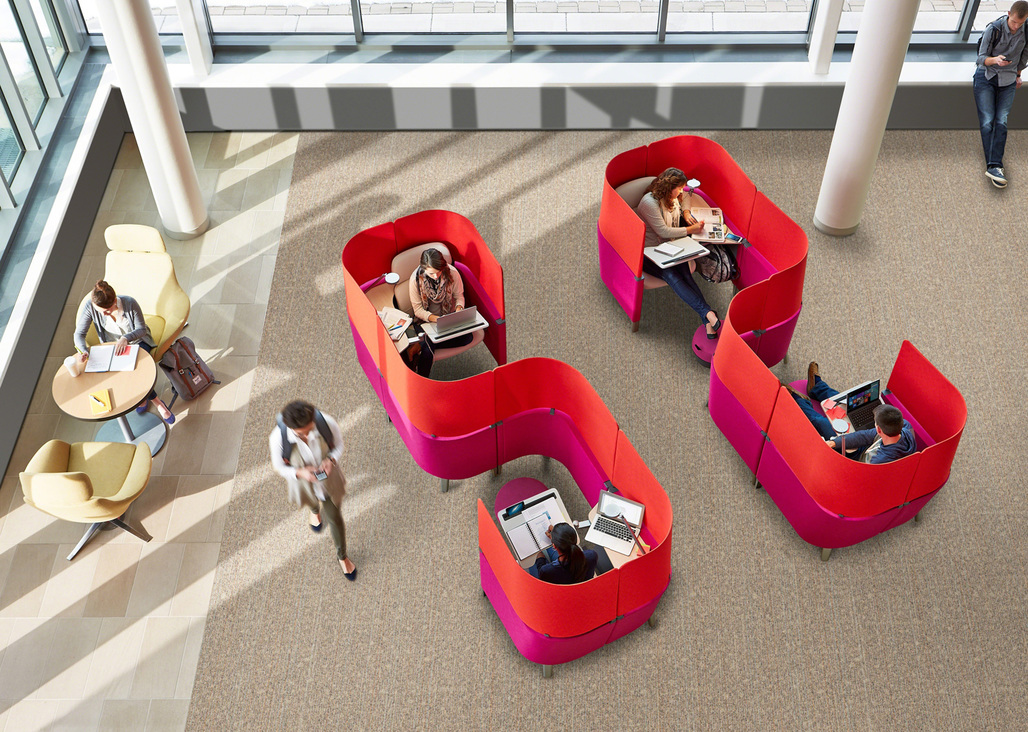 Steelcase, one of the hundreds of exhibitors coming to 2015 100%DESIGN. Photo courtesy 100% DESIGN.