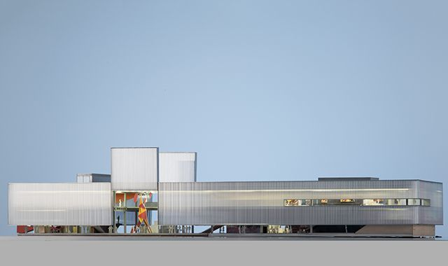 A Rem Koolhaas rendering of the Garage Museums new, permanent building, set to open in June 2015. Image: OMA/Rem Koolhaas; via blouinartinfo.com