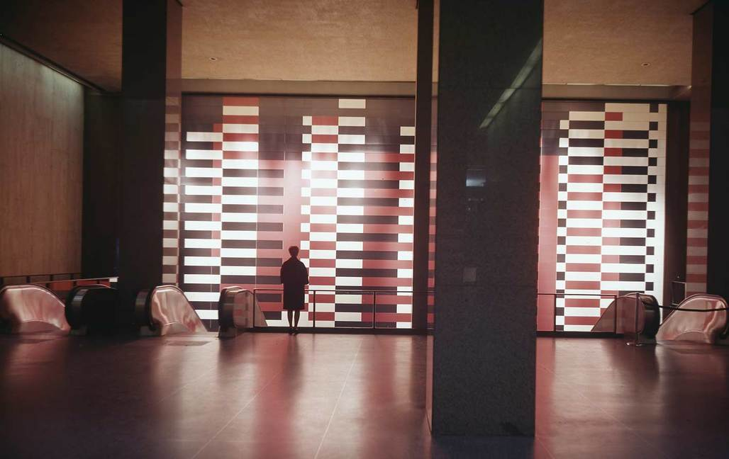 Josef Albers Manhattan in the Pan Am Building (via theartnewspaper.com)