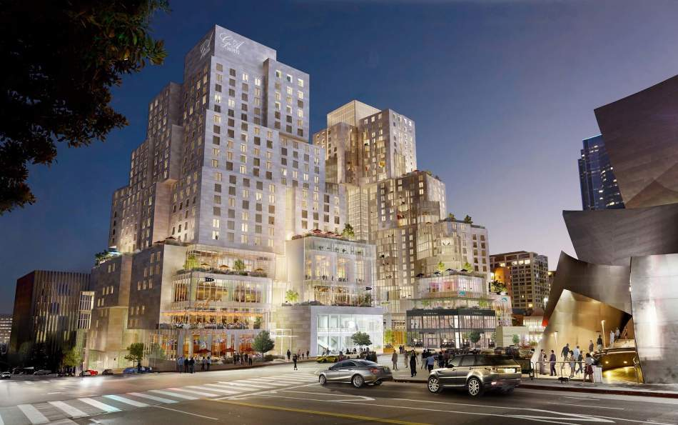 Rendering © Gehry Partners, via urbanize.la.