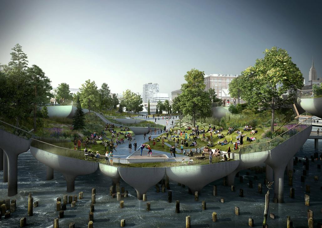 A rendering of Pier55. Credit: Heatherwick Studio