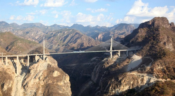 The Baluarte Bridge is now the worlds tallest cable-stayed bridge.