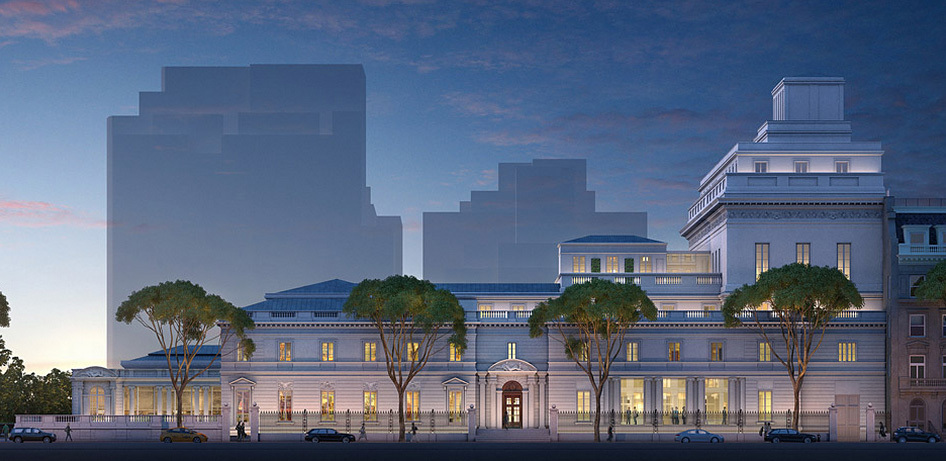 Rendering of the Frick Collections hotly contested expansion plans by Davis Brody Bond Architects and Planners. (Image courtesy of Neoscape Inc., 2014, via frickfuture.org)