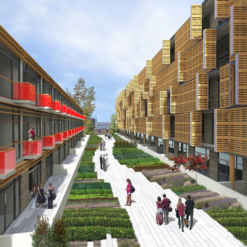 Rendering of Samuel Pitnicks design for The Habitat @ Red Hook (Image: Samuel Pitnick)