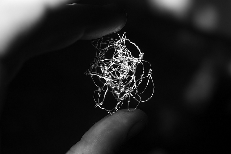 "NF1. Wire Sculpture by Emma McNally, who will be exhibiting at the ""Abstract Drawing"" exhibition in Londons Drawing Room starting February 2014. Photo from EmmaMcNally1 on flickr."