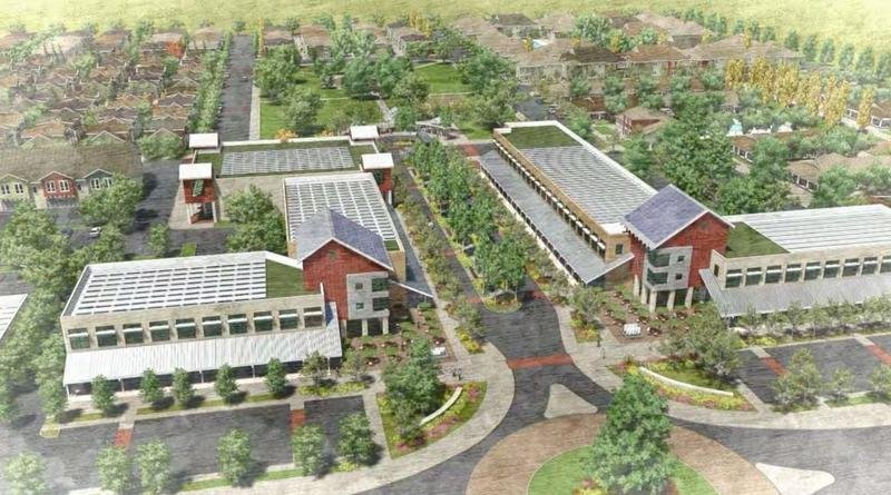 This new eco-friendly residential development in Californias Central Valley expects to use less water than the orchards that used to be there. (Image via npr.org)