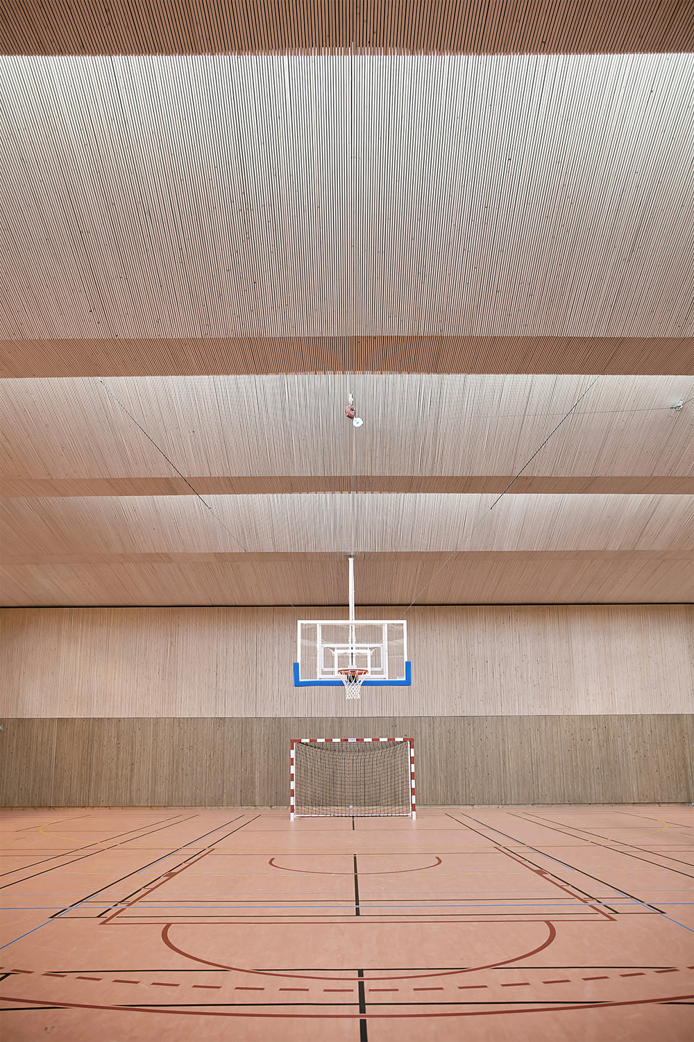 Pajol Sports Centre in Paris, France by Brisac Gonzalez Architects; Photo: Géraldine Andrieu/Hélène Robert