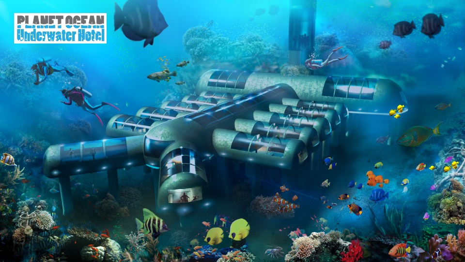 The Planet Ocean Underwater Hotel may become the worlds first roving, underwater boutique hotel. Credit: Planet Underwater Ocean Hotel
