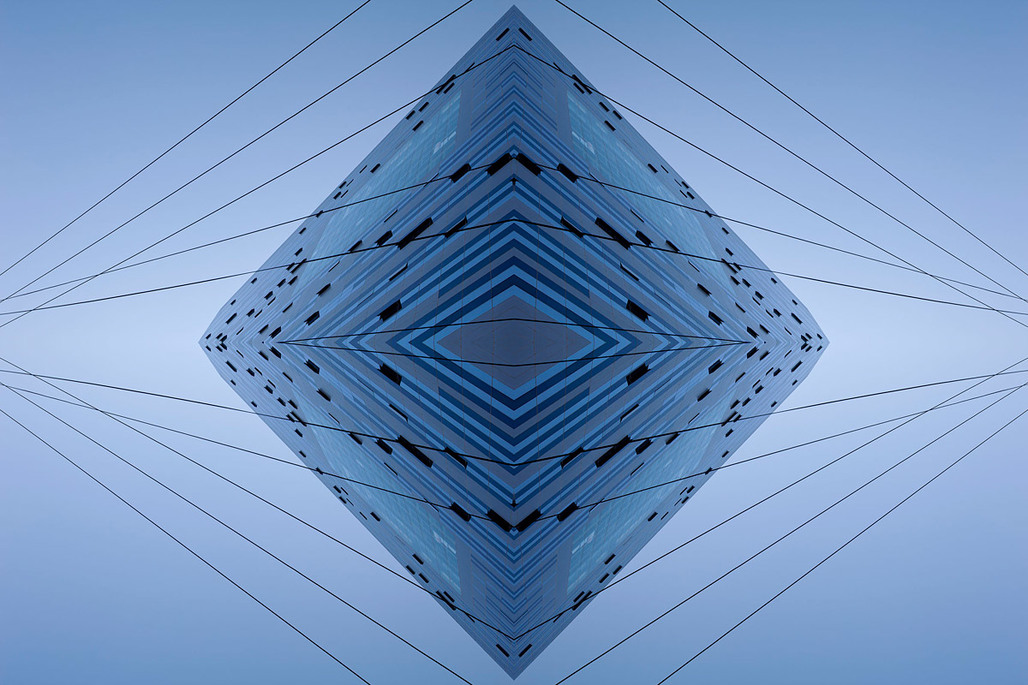 The Blue Diamond, by Aaron Yassin, 27 x 40, C-print, mounted to aluminum and reverse-mounted to plexiglass, 2012