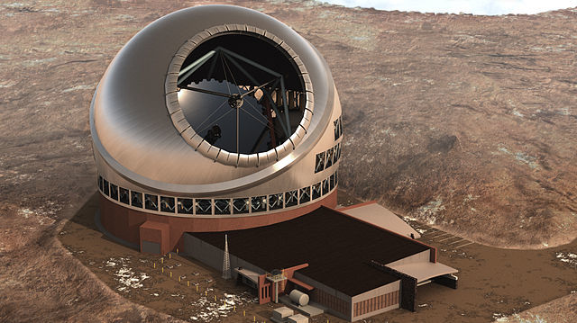Artists rendering of the $1.4 billion Thirty Meter Telescope. Courtesy TMT Observatory Corporation.