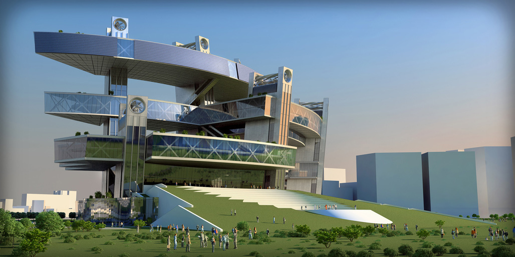 Entry to the Taichung City Cultural Center competition by Architecton (Image: Architecton)