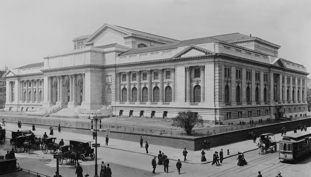 New York Public Library, 1908. Image via wikimedia.org.