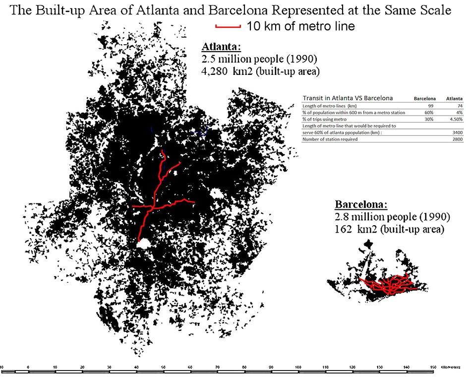 Graphic by Alain Bertaud; image via streetsblog.org