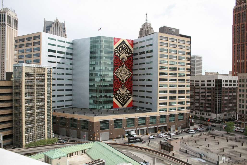 Shepard Faireys most recent mural for Detroit. Image via 3.bp.blogspot.com/.