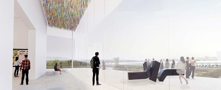 SANAAs winning concepts for the Art Gallery of New South Wales expansion.