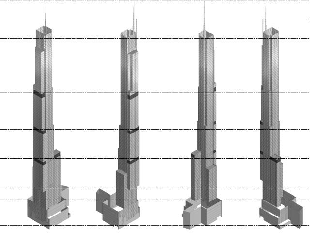 Nordstrom Tower, 3D Model and architectural diagrams. Image via newyorkyimby.com