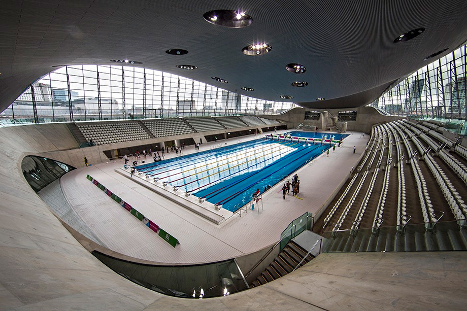 The Aquatics Centre at the Olympic Park in Stratford, east London. Photograph: David Levene for the Guardian