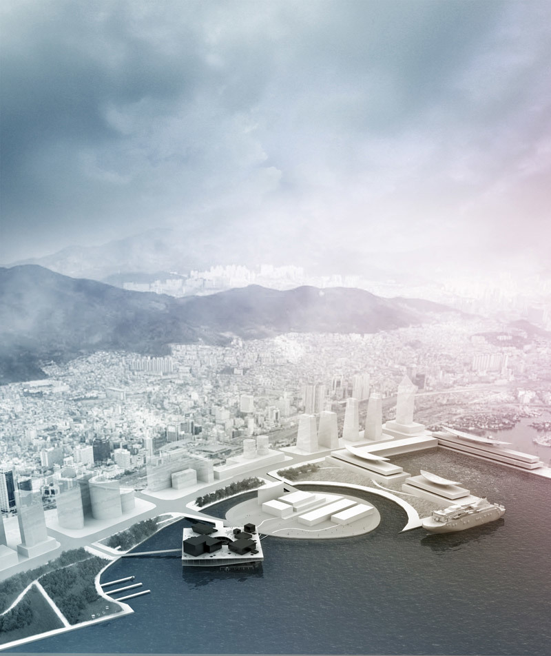 Second prize-winning entry in the student category for the new Busan Opera House by the team from Columbia University
