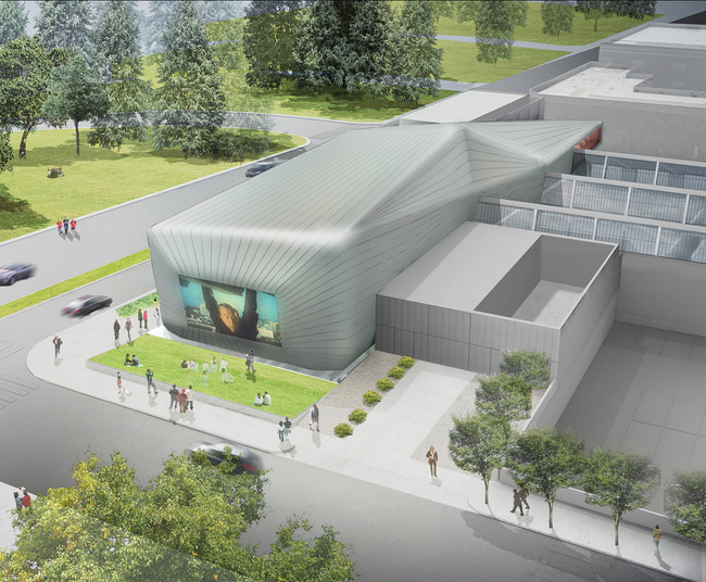 Rendering of the new Diller Scofidio + Renfro-designed UC Berkeley Art Museum and Pacific Film Archive (BAM/PFA) which will open on January 31 with the exhibition Architecture of Life.
