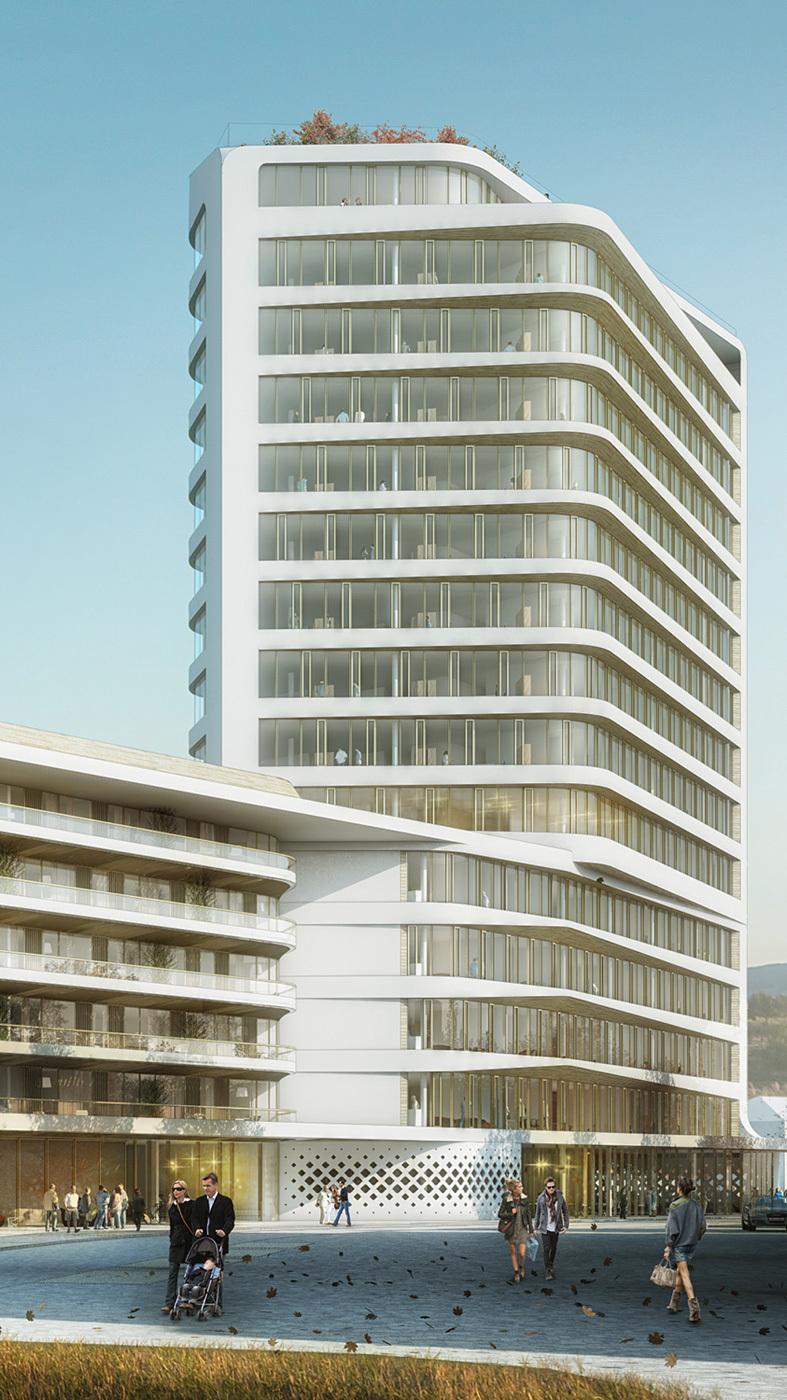 UNStudios winning design for the Baumkirchen Mitte complex in Munich. Image: UNStudio