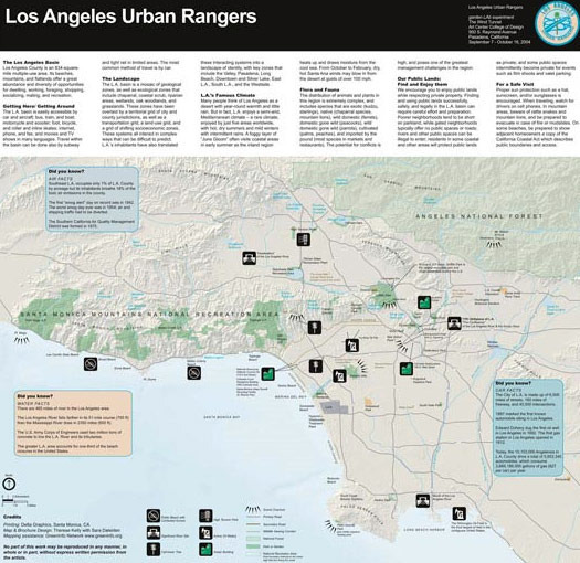 Los Angeles, Official Map and Guide, from Los Angeles Urban Rangers.