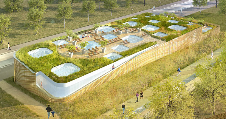 Mikou Design Studios competition-winning design for Swimming Pool Feng Shui in Issy les Moulineaux, France (Image: Mikou Design Studio)