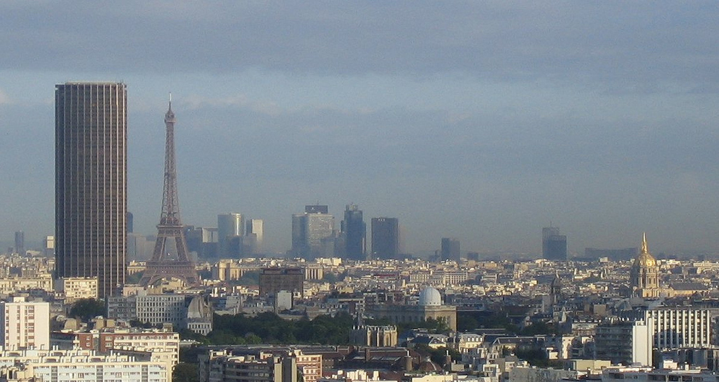 Beauty and the beast: the Eiffel Tower and the citys-most-hated-building-but-soon-to-be-très-chic Tour Montparnasse. (Photo via Wikimedia Commons)