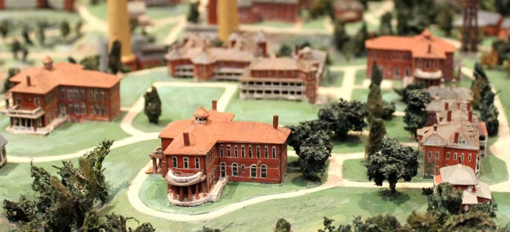 A model of St. Elizabeths asylum. Credit: NBM